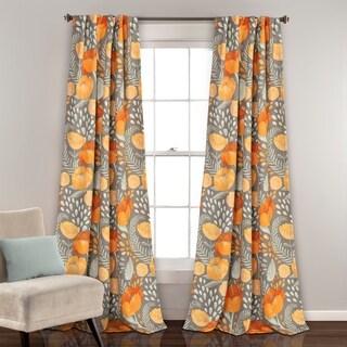 Porch & Den Egger Poppy Patterb Room Darkening Curtain Panel Pair