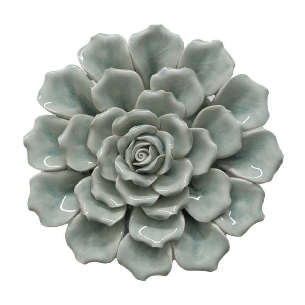 Maison Rouge Bellamy Blue Ceramic Flower Wall Decoration