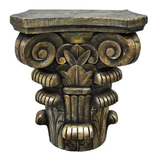 Three Hands Bronze Resin Decorative Pedestal