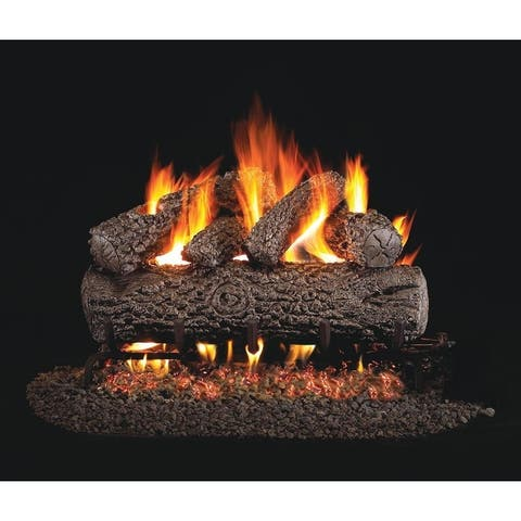 RH Peterson Real Fyre Standard Post Oak Vented Gas Logs 24 inch Logs Only