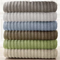 Amraupur Overseas Wavy Luxury Spa Collection 6-piece Quick Dry Towel Set in Grey (As Is Item)