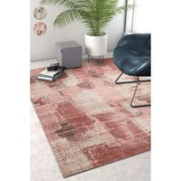 Well Woven Sayan Modern Abstract Distressed Area Rug - 7'10 x 9'10