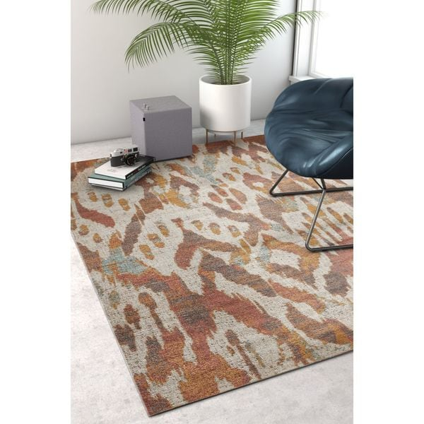Well Woven Sayan Modern Southwestern Ikat Earth Area Rug - 7'10 x 9'10