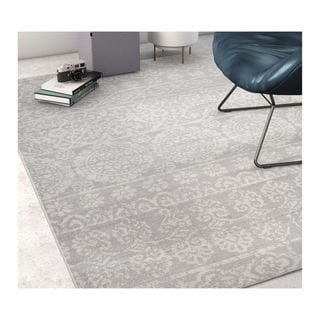 "Well Woven Sayan Modern Tile Work Grey Area Rug - 3'3"" x 5'"