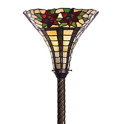 Tiffany-style Flower Torchiere