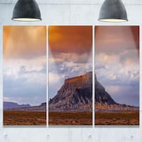 Phase1 Factory Buttle Utah Panorama - Landscape Glossy Metal Wall Art - 36Wx28H