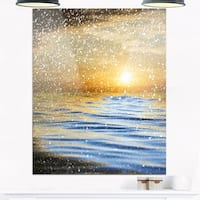 Phase1 Clouds with Reflection in Water - Seashore Photo Glossy Metal Wall Art
