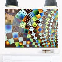 Phase1 Fractal Geometric Ornament Design - Abstract Art Glossy Metal Wall Art