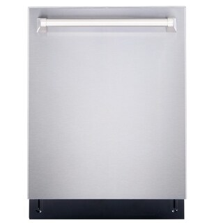Cosmo 24 in. Dishwasher in Stainless Steel Built-In with Tall Tub