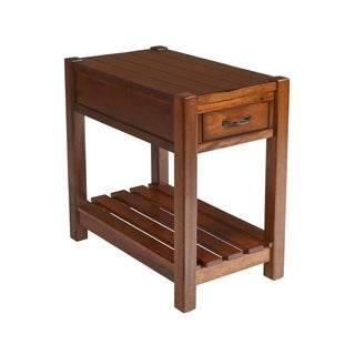 Giverny African Honey Chairside Table