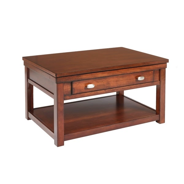 Lift Top Coffee Table Cherry: Shop Houston Burnished Cherry Lift Top Cocktail Table