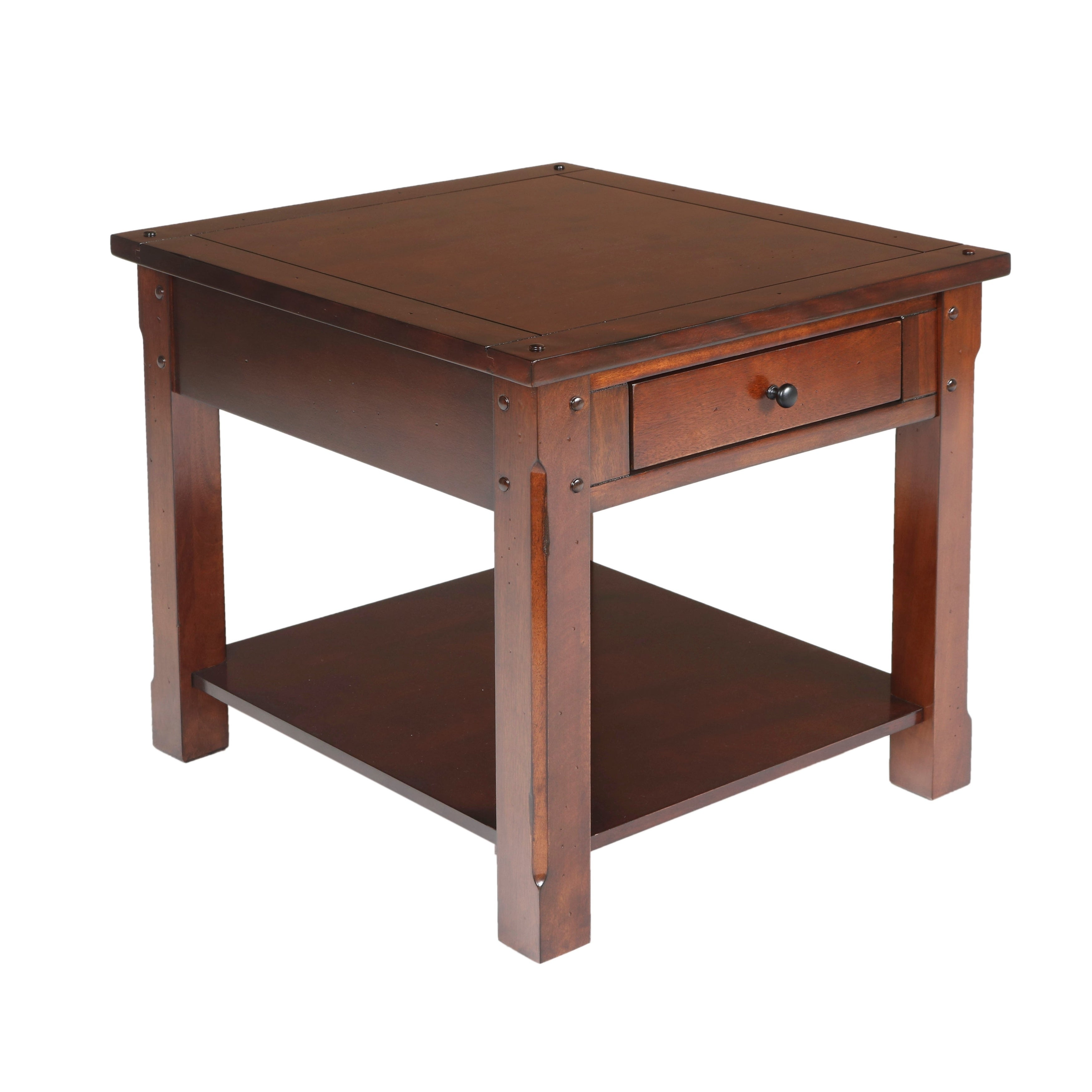 Corsica African Chestnut End Table Free Shipping Today 19663845