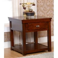 Houston Burnished Cherry End Table