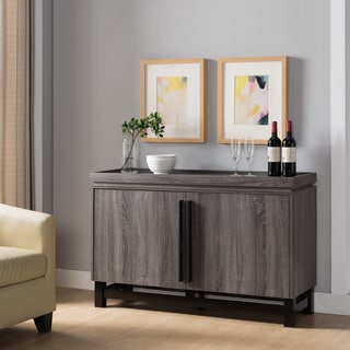 Furniture of america gelenan industrial cement like multi for Furniture of america alton modern multi storage buffet espresso