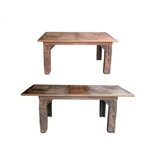 Groovystuff Ranch House Wood Single Drop Leaf Dinner Table