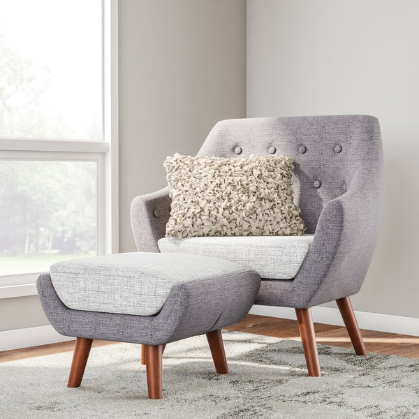 Shop Carson Carrington Tonsberg Grey Fabric Chair Free