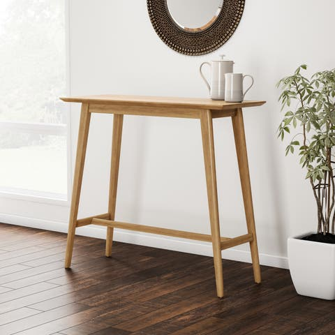 Carson Carrington Viborg Walnut Finish Wood Bar Table