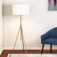 Carson Carrington Vasteras Adjustable Tripod Matte Gold Metal Floor Lamp