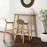 Carson Carrington Green 3-piece Wood Bar Set