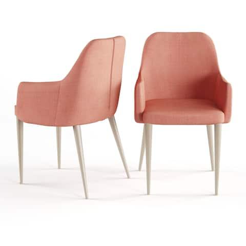 Carson Carrington Pori Mid-century Modern Fabric Dining Chair (Set of 2)