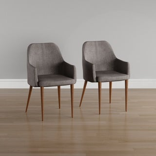 Link to Carson Carrington Pori Mid-century Fabric Dining Chair (Set of 2) Similar Items in Dining Room & Bar Furniture