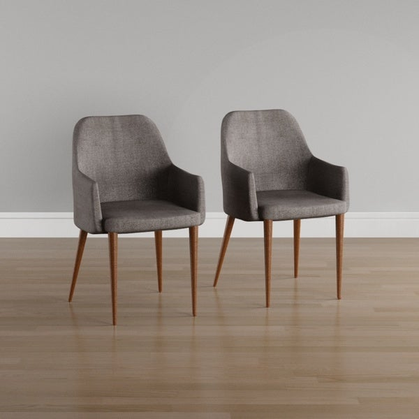 Carson Carrington Pori Mid-century Fabric Dining Chair (Set of 2). Opens flyout.