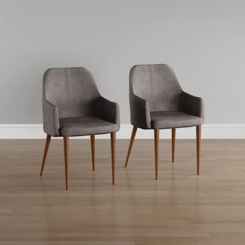 Carson Carrington Pori Mid-century Fabric Dining Chair (Set of 2)