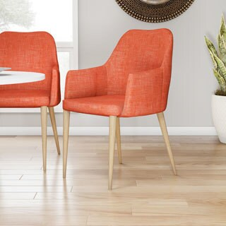 Carson Carrington Pori Mid-century Modern Fabric Dining Chair (Set of 2)