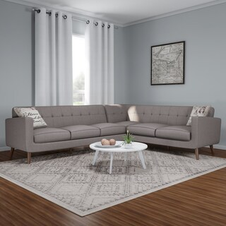 Carson Carrington Nesbyen 2-piece Sectional with 2 Accent Pillows