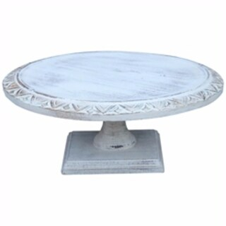 Wooden Footed Cake Stand, Light Blue - LIGHT BLUE
