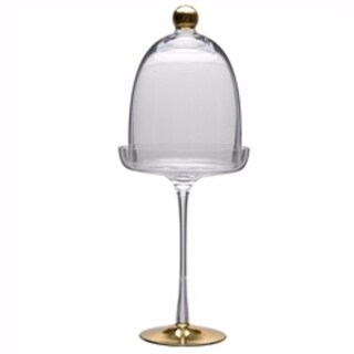 Well-designed Glass Pedestal Dome, Clear