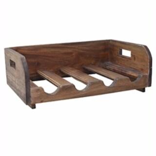 Sturdy Wooden Wine Rack, Brown