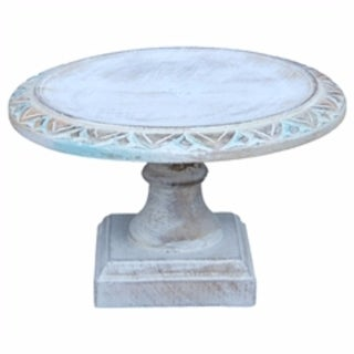 Enchanting Wooden Footed Cake Stand, Light Blue - LIGHT BLUE