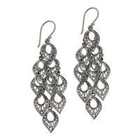 Handmade Sterling Silver 'Bali Rain' Earrings (Indonesia)