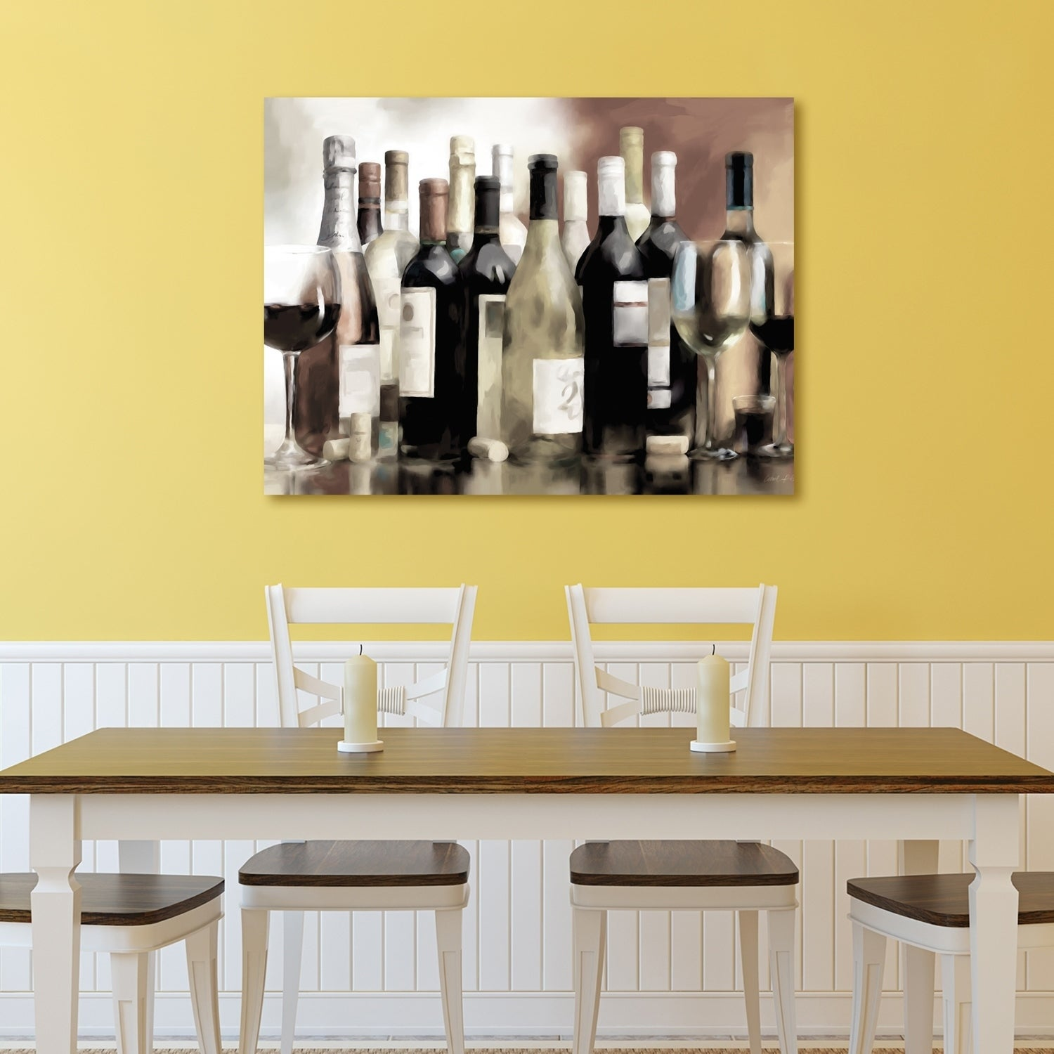 Modern Wine Decor Wall Art Component - Wall Painting Ideas ...