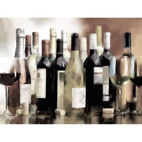 Portfolio Canvas Decor A Taste of Wine Ivory Canvas Wall Art