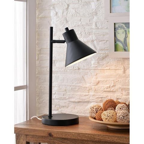 "Poplar 18"" Black Desk Lamp - 7"" x 10.5"" x 18""H"
