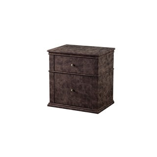 American Eagle Furniture Distressed Brown Fabric 2-drawer Nightstand