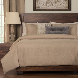 Siscovers Harbour Sand Woven 6-piece Cal-King Size Duvet Cover Set with Duvet Insert (As Is Item)