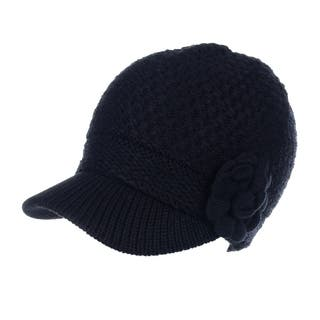 71a69b7a43979 Womens Cable Knitted newsboy Cap With Visor