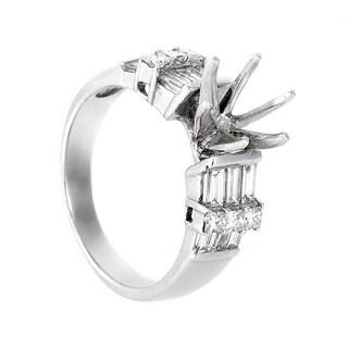 White Gold Bridal Mounting Ring CRR8934