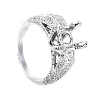 White Gold Diamond Bridal Mounting Ring CRR7910
