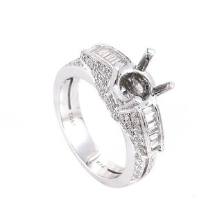 White Gold Diamond Mounting Ring SM4-082118