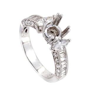White Gold Diamond Mounting Ring EN8-12371