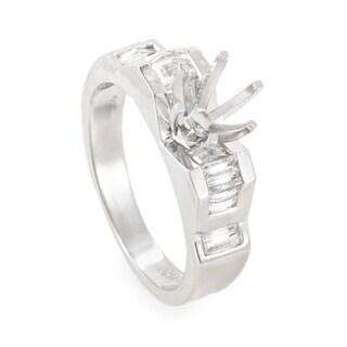 Geometric White Gold Diamond Mounting Ring MFC06-062913
