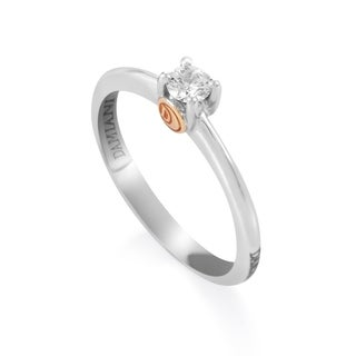 Multi-Gold Diamond Solitaire Engagement Ring