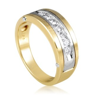 Multi-Tone Gold Diamond Band Ring 63432XGW4X1
