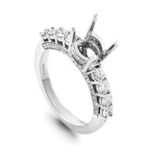 White Gold 8 Diamond Mounting Ring T-86-031616