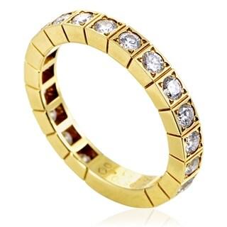 Lanieres Women's Yellow Gold Diamond Band Ring