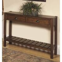 Pine Canopy Camellia Chestnut Wood Hall Console Table